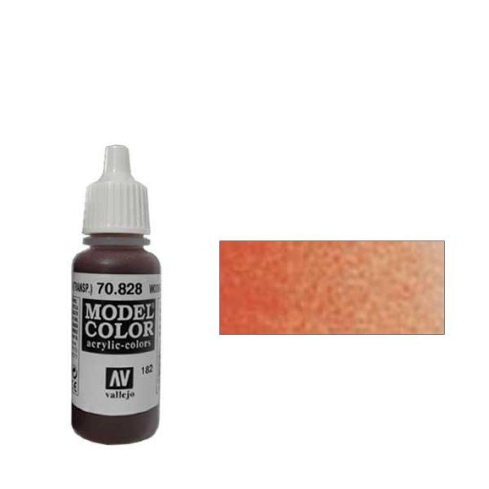 182. Краска Model Color Каучуково Дерево 828 (Transparent Woodgrain) прозрачный, 17мл