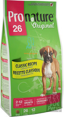 Pronature Original 26 Puppy All breeds Lamb and Rice.