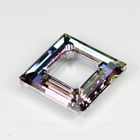 4439 Подвеска Сваровски Square Ring Crystal Vitrail Light  (20 мм) ()
