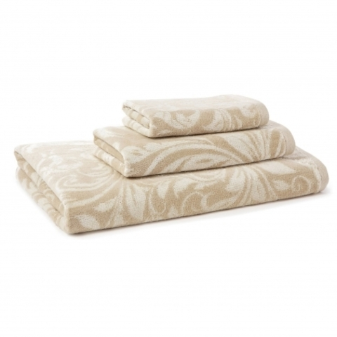 Полотенце 46х71 Kassatex Bedminster Scroll Creme Brulee