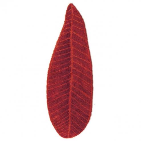 Элитный коврик для ванной Feuille 725 красный от Abyss & Habidecor