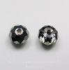 5040 Бусина - рондель с огранкой Сваровски Crystal Silver Night 6 мм