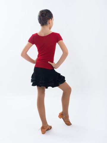 Детская блуза с коротким рукавом  для танцев, арт. 403/1