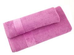Полотенце 100х160 Carrara Fyber розовое