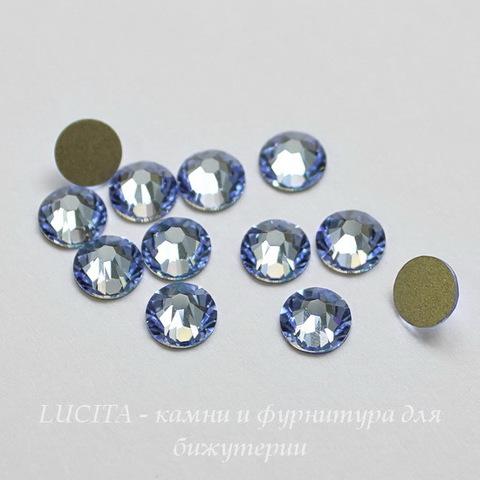 2028/2058 Стразы Сваровски холодной фиксации Light Sapphire ss12 (3,0-3,2 мм), 12 штук