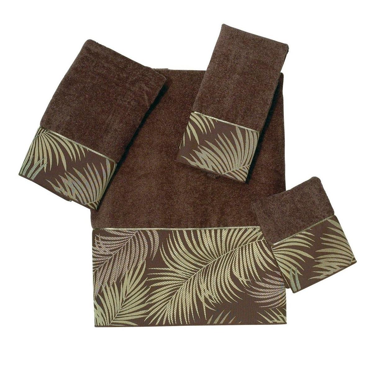 Полотенце 41х76 Avanti Tropical Leaves коричневое