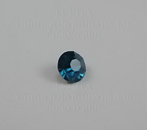 Стразы ювелирные (цвет - морская волна) 4,6 мм, 10 шт ()