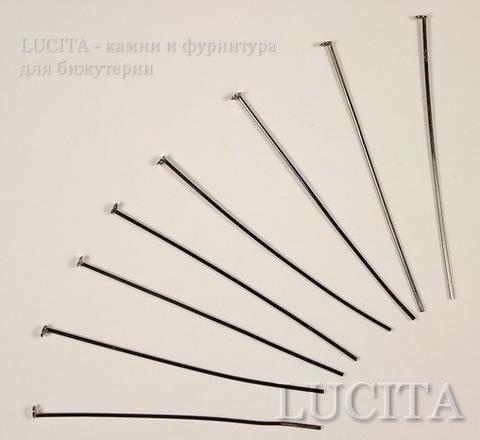 Пин - гвоздик (цвет - черный никель) (45х0,7 мм), 20 штук ()