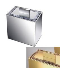 Емкость для косметики большая Windisch 88538O Shine Light Square