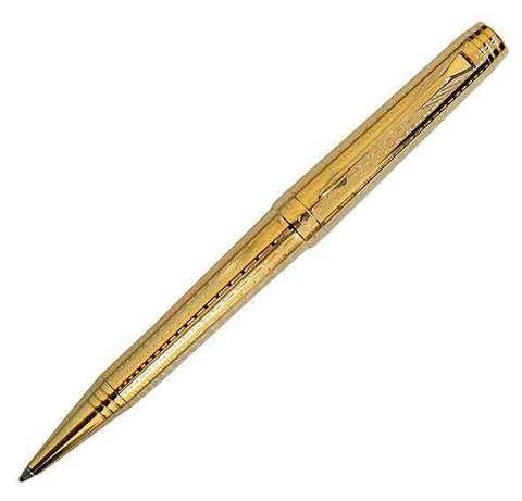 Купить Шариковая ручка Parker Premier DeLuxe K562, цвет: Chiselling GT, стержень черный, S0887960 по доступной цене
