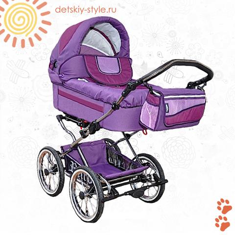 """Коляска Stroller B&E """"Maxima Retro-Mega"""" 3в1"""