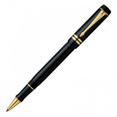 Купить Ручка-роллер Parker Duofold T74, цвет: Black GT, стержень: Fblack, S0690470 по доступной цене