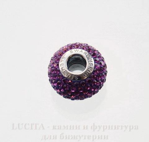 80101 Бусина Сваровски BeCharmed Pave Amethyst 14х9 мм ()