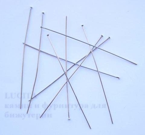 Комплект пинов-гвоздиков (цвет - античное серебро) 80х0,8 мм, примерно 300 штук ()