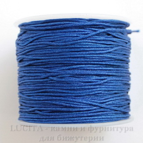 Нейлоновый шнур 1 мм (цвет - синий)  35 м