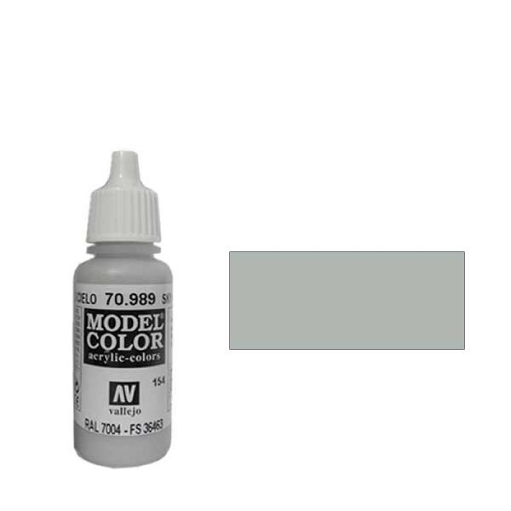 154. Краска Model Color Серое Небо 989 (Sky Grey) укрывистый, 17 мл