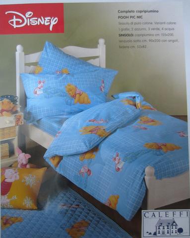Детское постельное белье Сaleffi Pooh Pic-Nic голубое