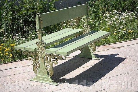 Скамейка чугунная двухсторонняя