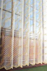 Штора Милана Органза с золотой вышивкой