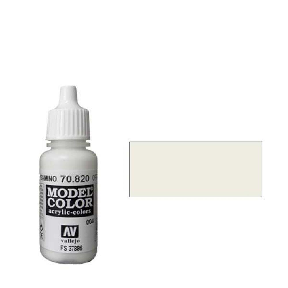 004. Краска Model Color Белила 820 (Offwhite) укрывистый, 17мл