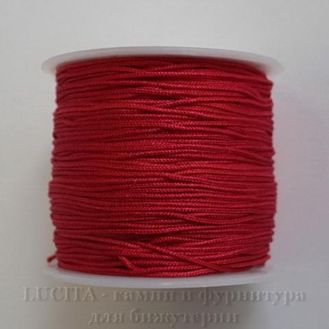 Нейлоновый шнур 1 мм (цвет - красный) 35 м ()