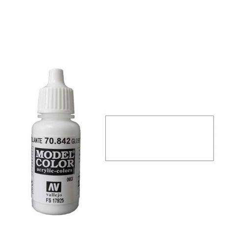 003. Краска Model Color Белый Глянцевый 842 (Gloss White) укрывистый, 17мл