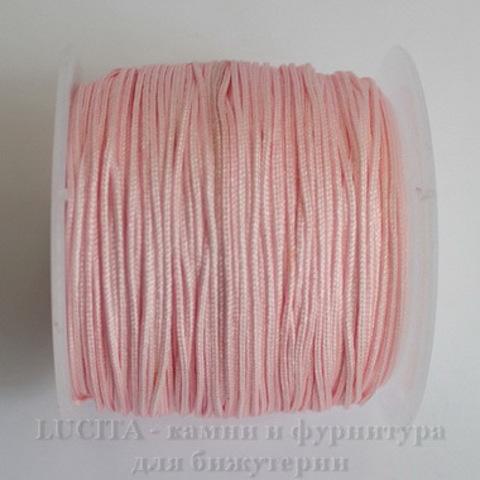 Нейлоновый шнур 1 мм (цвет - розовый) 35 м ()