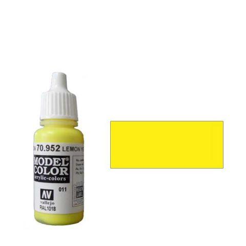 011. Краска Model Color Лимонно-Желтый 952 (Lemon Yellow) укрывистый, 17мл