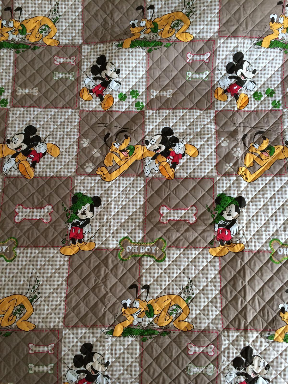 Элитное покрывало детское Mickey&Pluto от Caleffi