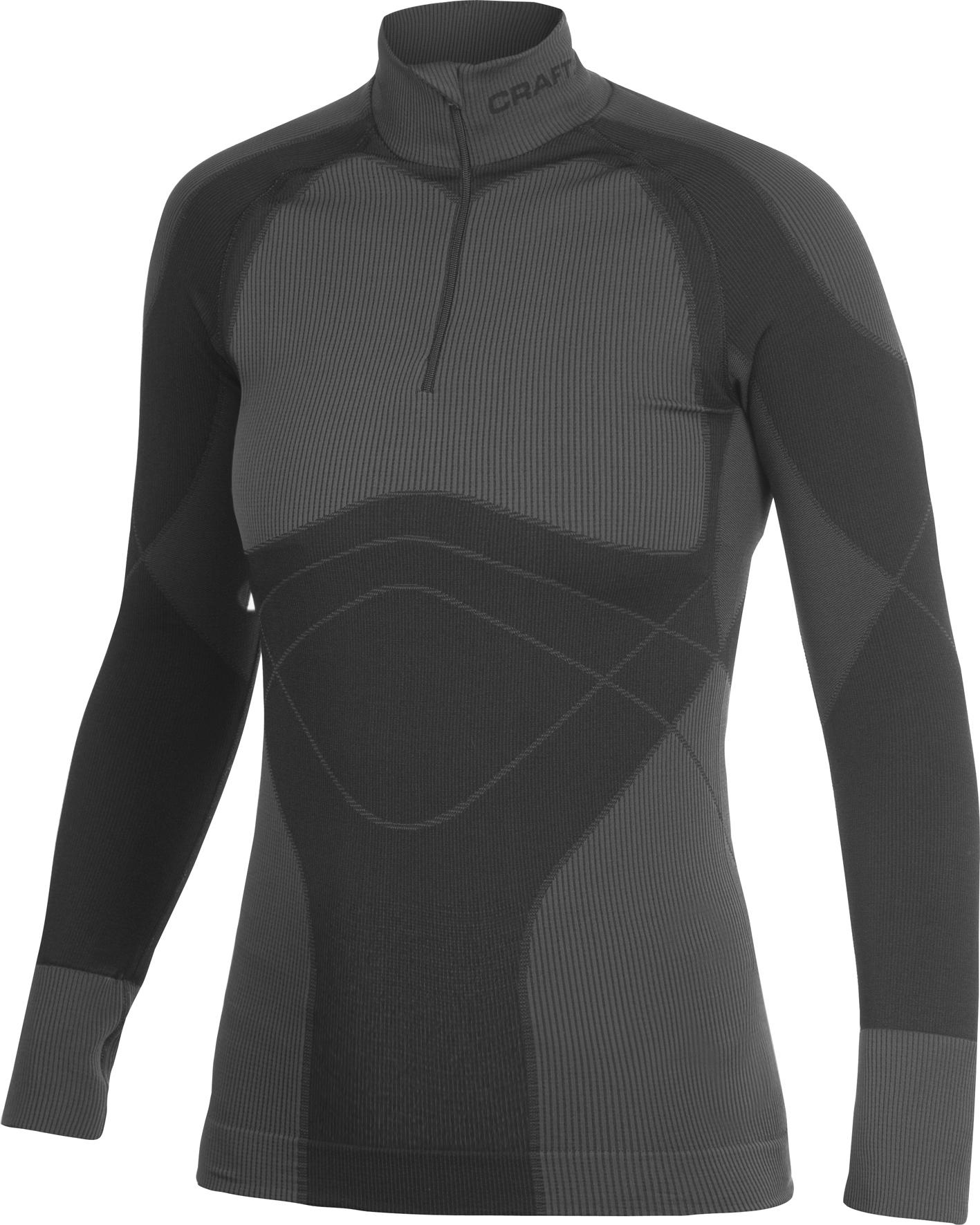 Рубашка Craft Warm Zip женская темно-серая