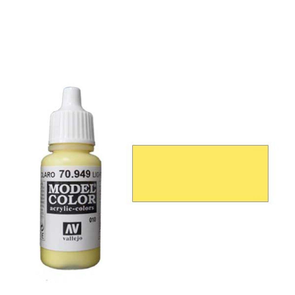 010. Краска Model Color Желтый Светлый 949 (Light Yellow) укрывистый, 17мл