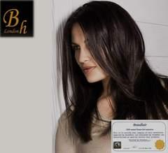 Набор 9 прядей,цвет #1B-черный с коричневым отливом