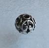 """Бусина металлическая """"Ажурная"""" (цвет - античное серебро) 11х10 мм"""