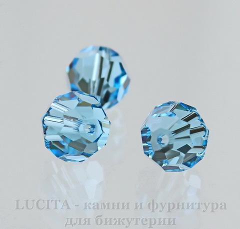 5000 Бусина - шарик с огранкой Сваровски Aquamarine 6 мм