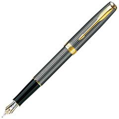 Перьевая ручка Parker Sonnet F534, цвет: Cisele (серебро 925 пробы), перо: F, перо: золото 18К, S0808140