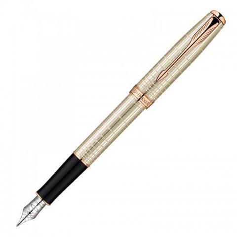 Купить Перьевая ручка Parker Sonnet F535 VERY PREMIUM Feminine, (серебро 925 пробы) цвет: Silver PGT, перо: F, 1859488 по доступной цене