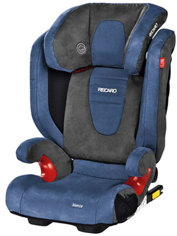 Детское кресло RECARO Monza Seatfix (материал верха Trendline Bellini Shadow/Blue)