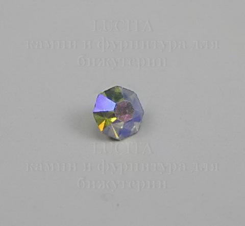 Стразы ювелирные (цвет - прозрачный c AB покрытием) 3,4 мм, 10 шт ()