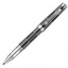 Ручка-роллер Parker Premier Luxury 2013, T560, цвет: черный и серебристый (Black СT), стержень: чернила черного цвета, 1876392