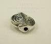 """Бусина металлическая """"Спираль"""" (цвет - античное серебро) 12х11 мм ()"""