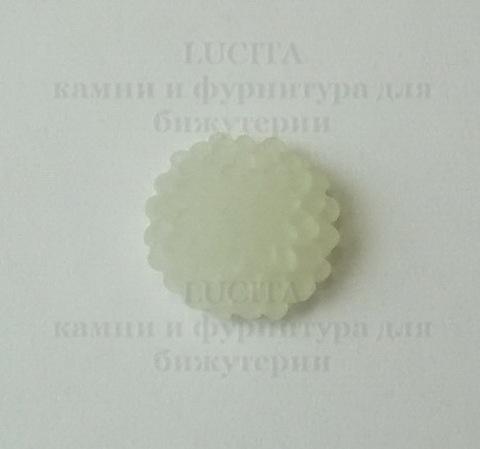 """Кабошон акриловый белый """"Винтажная роза"""", 10х5 мм ()"""