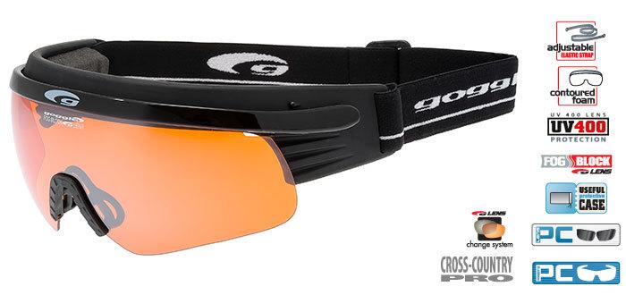 Лыжные Очки goggle линия Shima black/orange