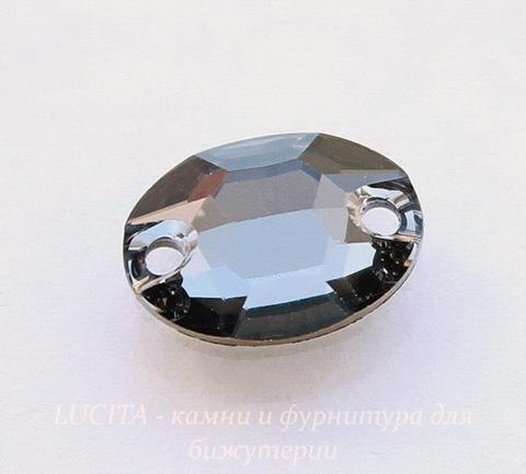 3210 Пришивные стразы Сваровски Crystal Silver Night (10х7 мм) (41)