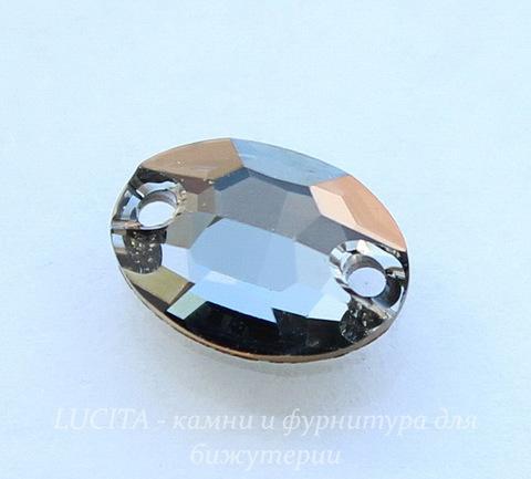 3210 Пришивные стразы Сваровски Crystal Silver Night (10х7 мм) (42)