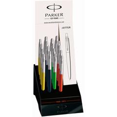 Дисплей c шариковыми ручками Parker Jotter 125th в ассортименте, 18 шт., 1870820