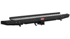 Задний силовой бампер OJ стандарт с вырезами под доп.свет на Патриот Пикап.