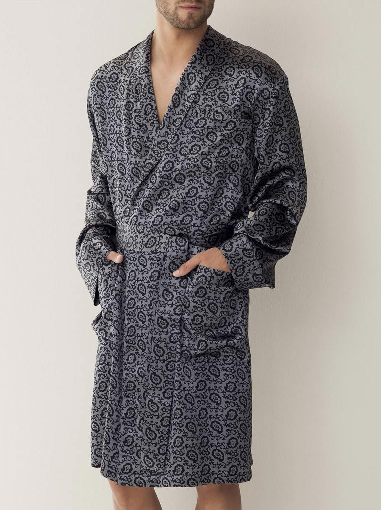 Шелковый халат с орнаментом Zimmerli (Мужские халаты)