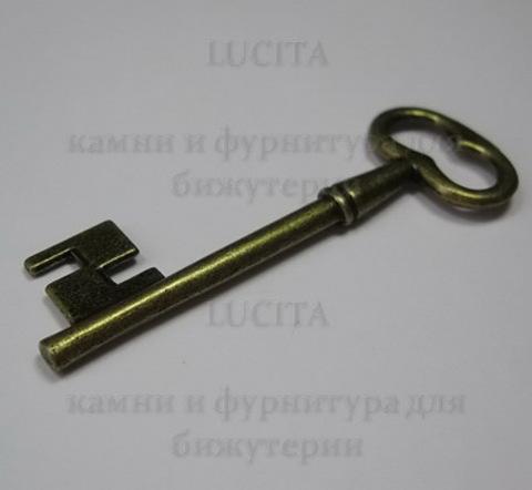 "Подвеска ""Ключик"" (цвет - античная бронза) 58х20 мм ()"