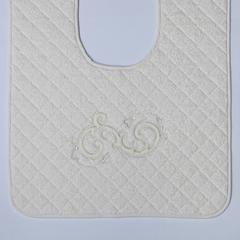Элитный коврик для унитаза Ricciolo бежевый с бежевой аппликацией от Old Florence