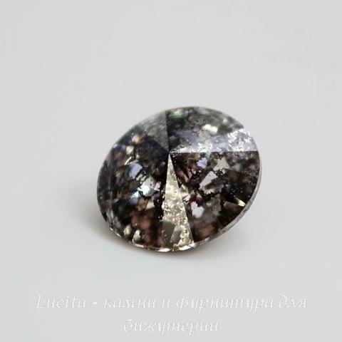 1122 Rivoli Ювелирные стразы Сваровски Crystal Black Patina (12 мм) ()